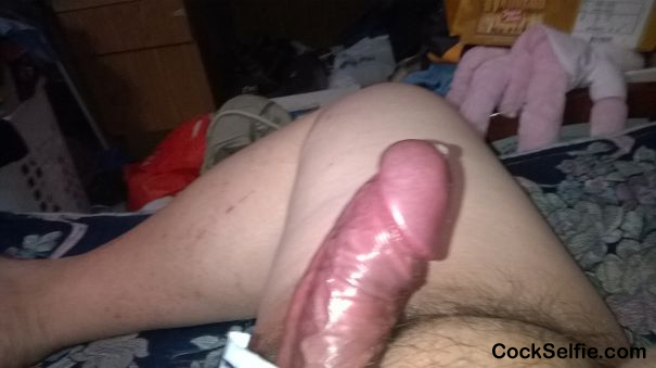 PRE CUM anyone? Lick the Tip? - Cock Selfie