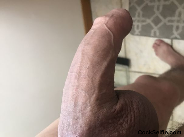 Getting re for a hot steam shower - Cock Selfie