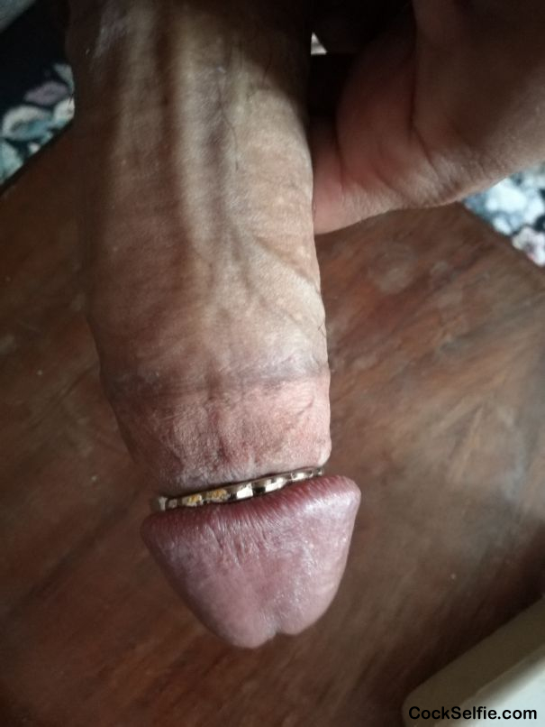 Trying some tightly fitting ring - Cock Selfie