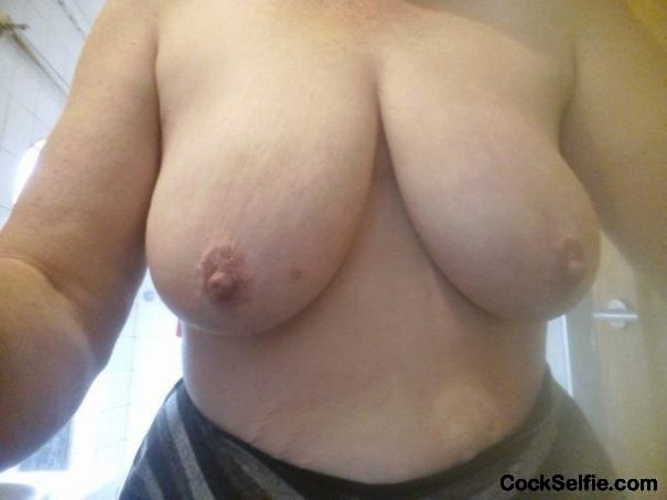Tits of note..... - Cock Selfie